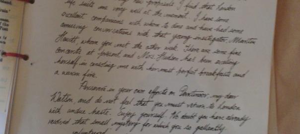 Letter from Sherlock Holmes