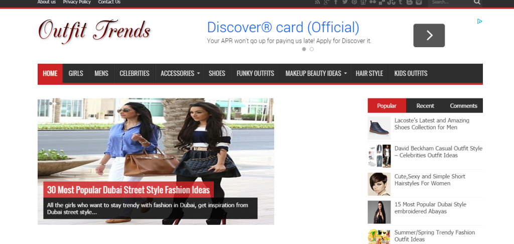 Example of a Fashion Blog