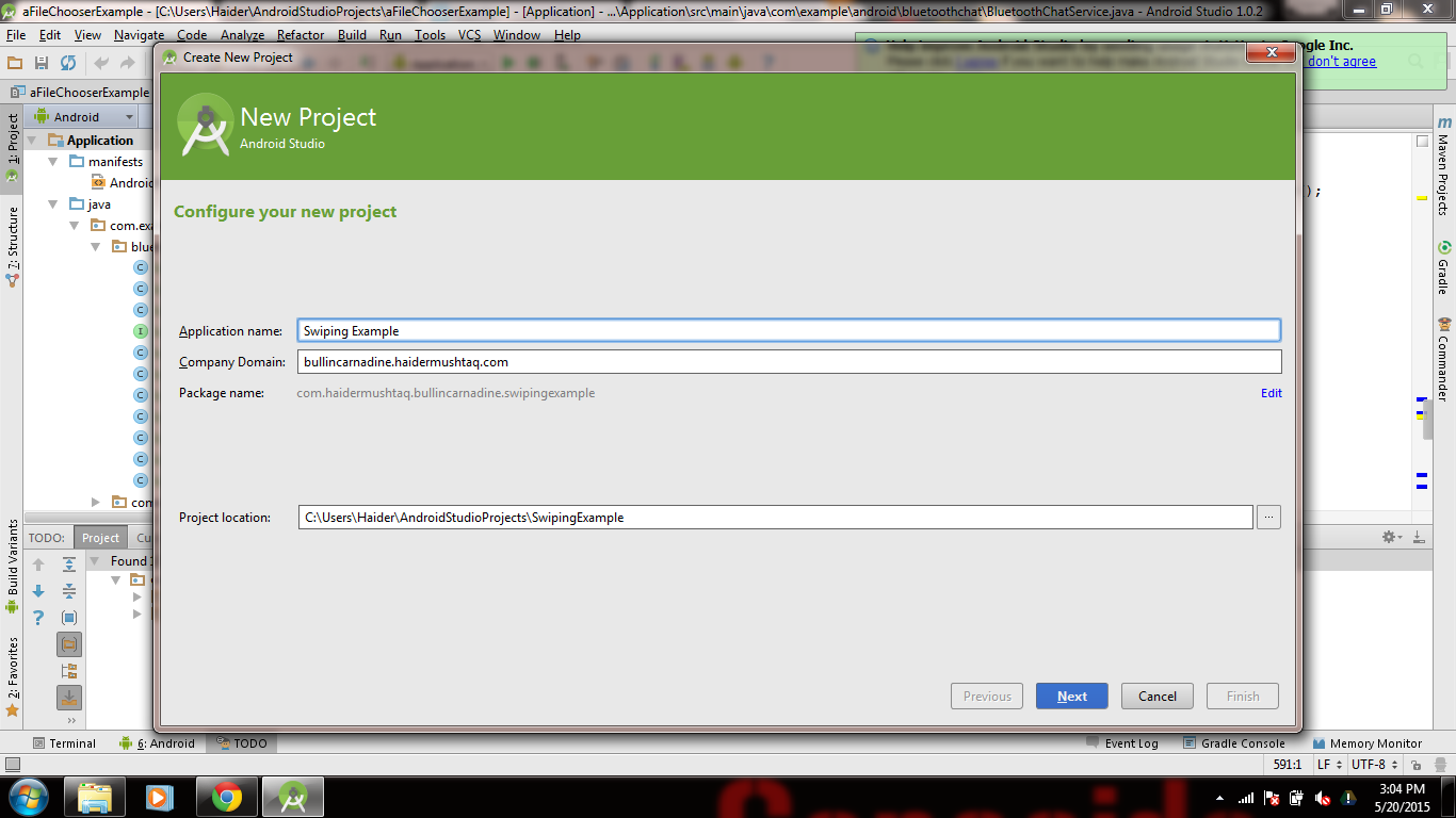 Tutorial for Creating Android Swiping Application using Tabbed Activity on Android Studio